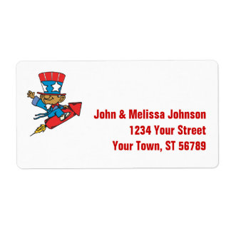Uncle Sam Patriotic Label Shipping Label
