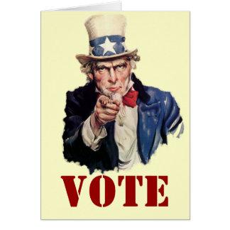 Uncle Sam Patriotic VOTE Designs Card
