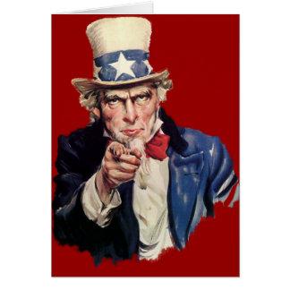 Uncle Sam Patriotic VOTE Designs Cards