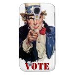 Uncle Sam Patriotic VOTE Designs Galaxy S4 Cover