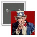 Uncle Sam Patriotic VOTE Designs Pinback Button