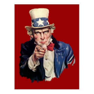 Uncle Sam Patriotic VOTE Designs Postcard