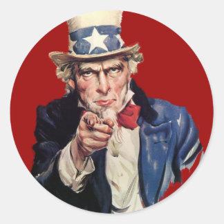 Uncle Sam Patriotic VOTE Designs Stickers