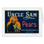 Uncle Sam Pear Crate LabelWapato, WA