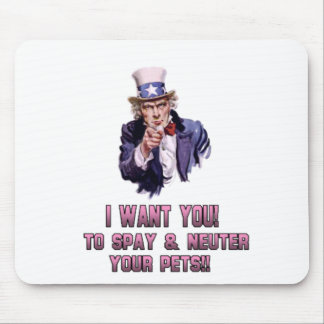 uncle sam pink mouse pad