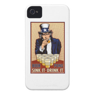 uncle Sam playing beer pong iphone cover iPhone 4 Cover