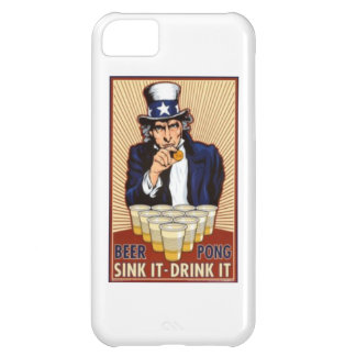uncle Sam playing beer pong iphone cover iPhone 5C Cover