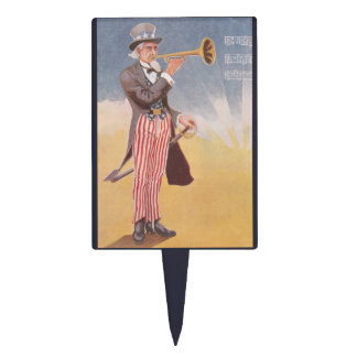 Uncle Sam Playing The Bugle Cake Topper