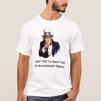 uncle_sam_pointing_finger, I Want YOU to Save Y... T-Shirt