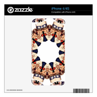 Uncle Sam Pointing Finger Kaleidoscope iPhone 4S Decal