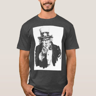 Uncle Sam pointing finger - white halftone T-Shirt