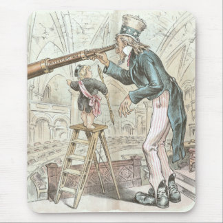 Uncle Sam Points a Telescope Mouse Pad