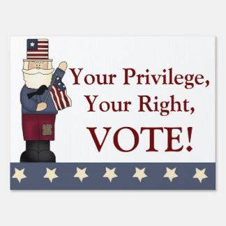 Uncle Sam Political Voting Yard Sign
