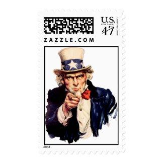 Uncle_Sam Postage Stamp