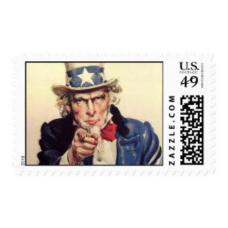 Uncle Sam Postage Stamp