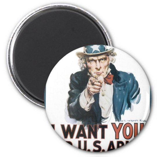 Uncle Sam Poster, America. I Want You For... Magnet