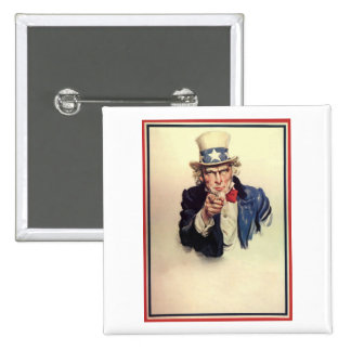 Uncle Sam Poster Button