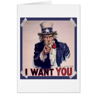 Uncle Sam Poster Greeting Card
