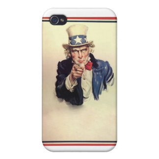 Uncle Sam Poster iPhone 4/4S Cases