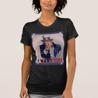 Uncle Sam Poster Ladies Sheer V-Neck t-shirt (Fitt