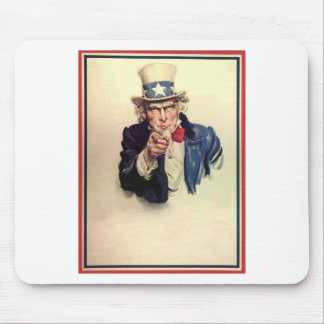 Uncle Sam Poster Mouse Pad