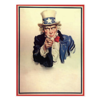 Uncle Sam Poster Postcard