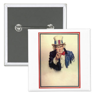Uncle Sam Poster Template Pinback Buttons