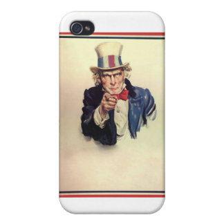 Uncle Sam Poster Template iPhone 4/4S Covers