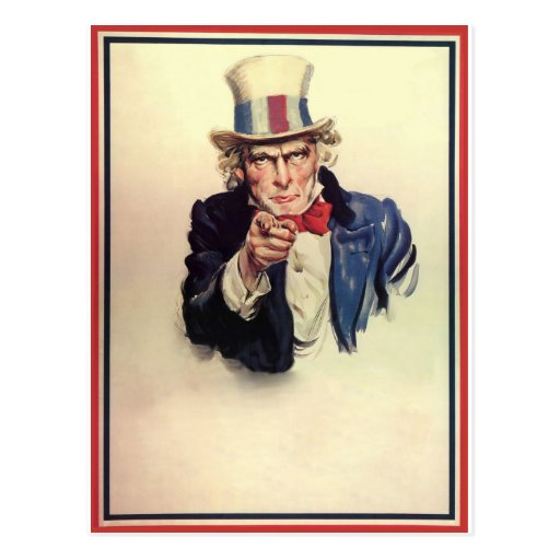 Uncle Sam Poster Template Postcard Zazzle