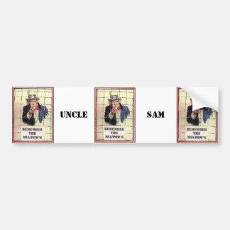 Uncle Sam POW-MIA Car Bumper Sticker