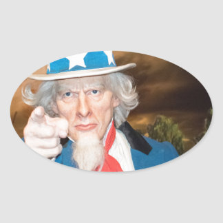 Uncle Sam Products Oval Sticker