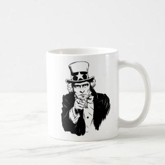 Uncle Sam Propaganda Portrait Classic White Coffee Mug