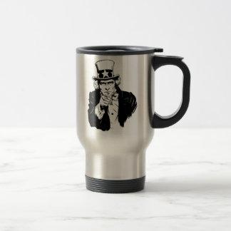 Uncle Sam Propaganda Portrait Coffee Mugs