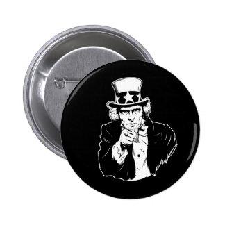 Uncle Sam Propaganda Portrait Pinback Button