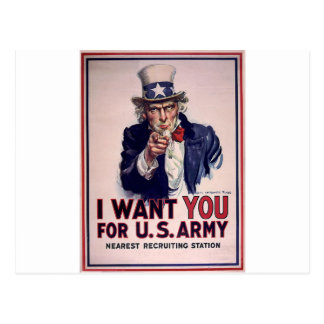Uncle Sam Recruitment Poster Post Cards