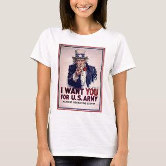 Uncle Sam Recruitment Poster T-Shirt