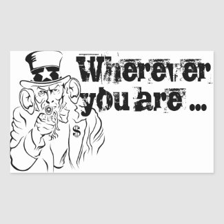 Uncle Sam Rectangular Sticker