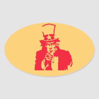 Uncle Sam (Red) on Stickers