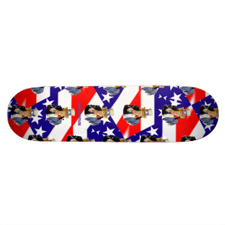 Uncle Sam Red White and Blue Flag Skateboard Deck