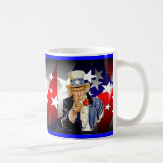 Uncle Sam Red White and Blue mug