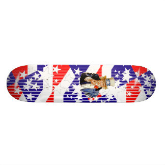 Uncle Sam- red white and blue Skateboard Deck