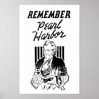 Uncle Sam -- Remember Pearl Harbor Print