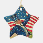 Uncle Sam retro art decor Christmas Tree Ornament