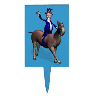 Uncle Sam Riding On Donkey Cake Topper