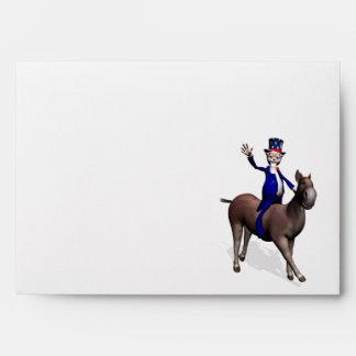 Uncle Sam Riding On Donkey Envelope