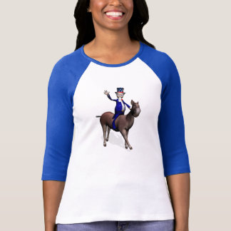 Uncle Sam Riding On Donkey T-Shirt