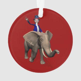 Uncle Sam Riding On Elephant