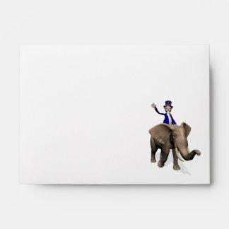 Uncle Sam Riding On Elephant Envelopes