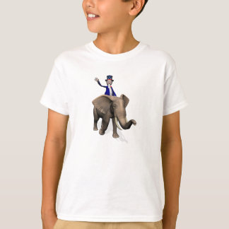 Uncle Sam Riding On Elephant T-Shirt