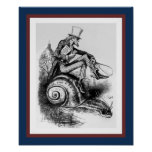 Uncle Sam Riding the Congressional Snail Poster